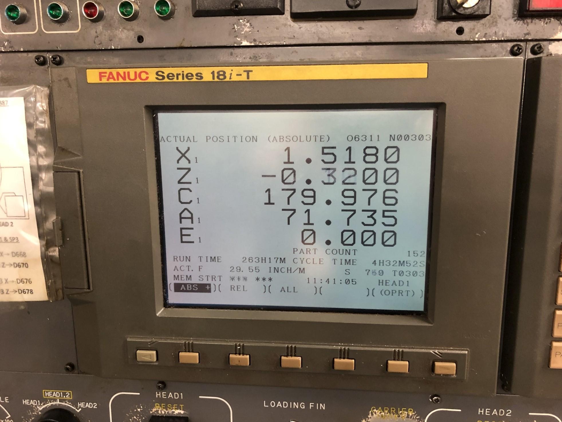 1999 Kitako MT4-200M Multi-Spindle CNC Turning Mill - Image 5 of 15