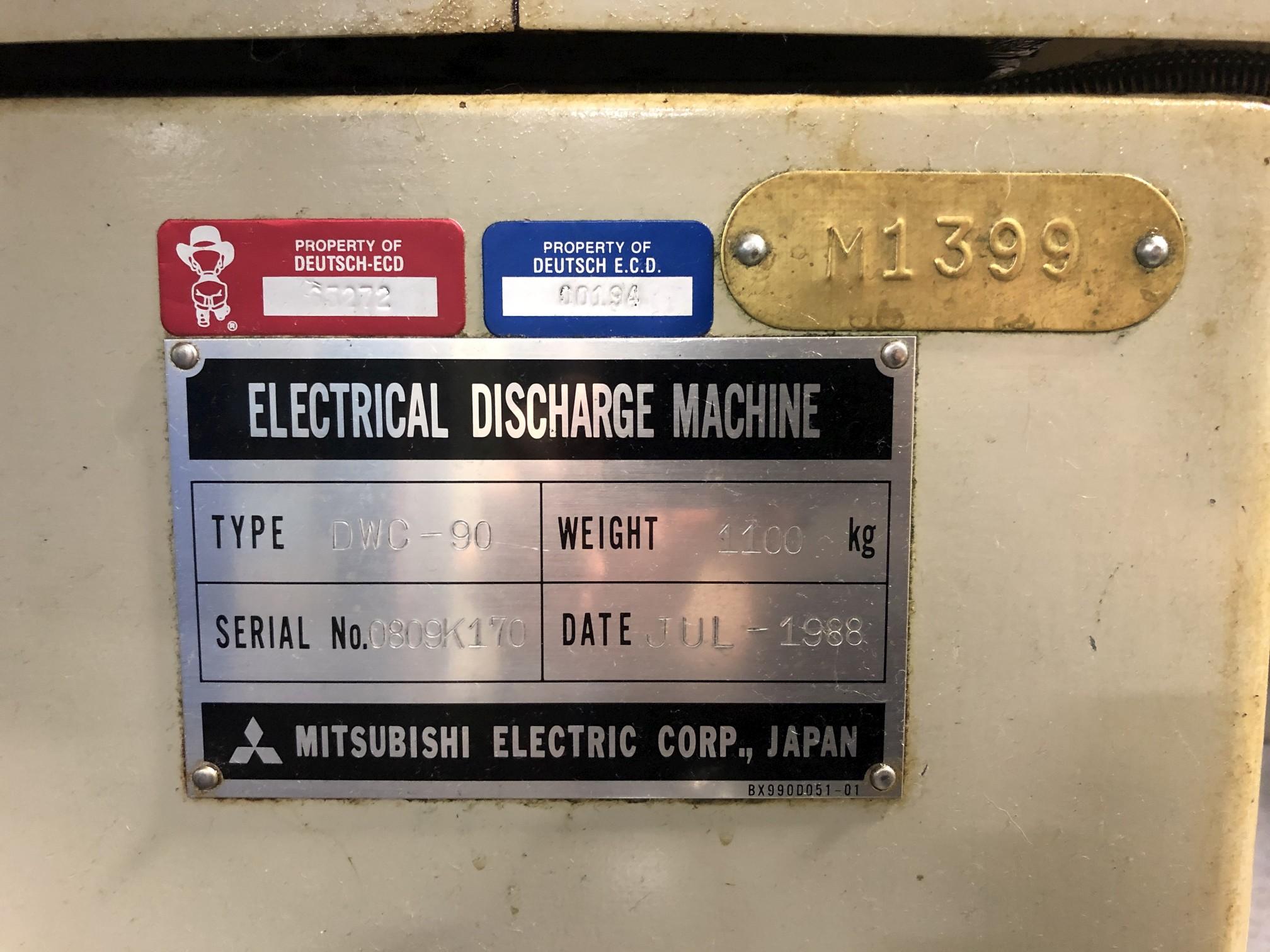 1988 Mitsubishi DWC90H CNC Wire EDM - Image 13 of 13