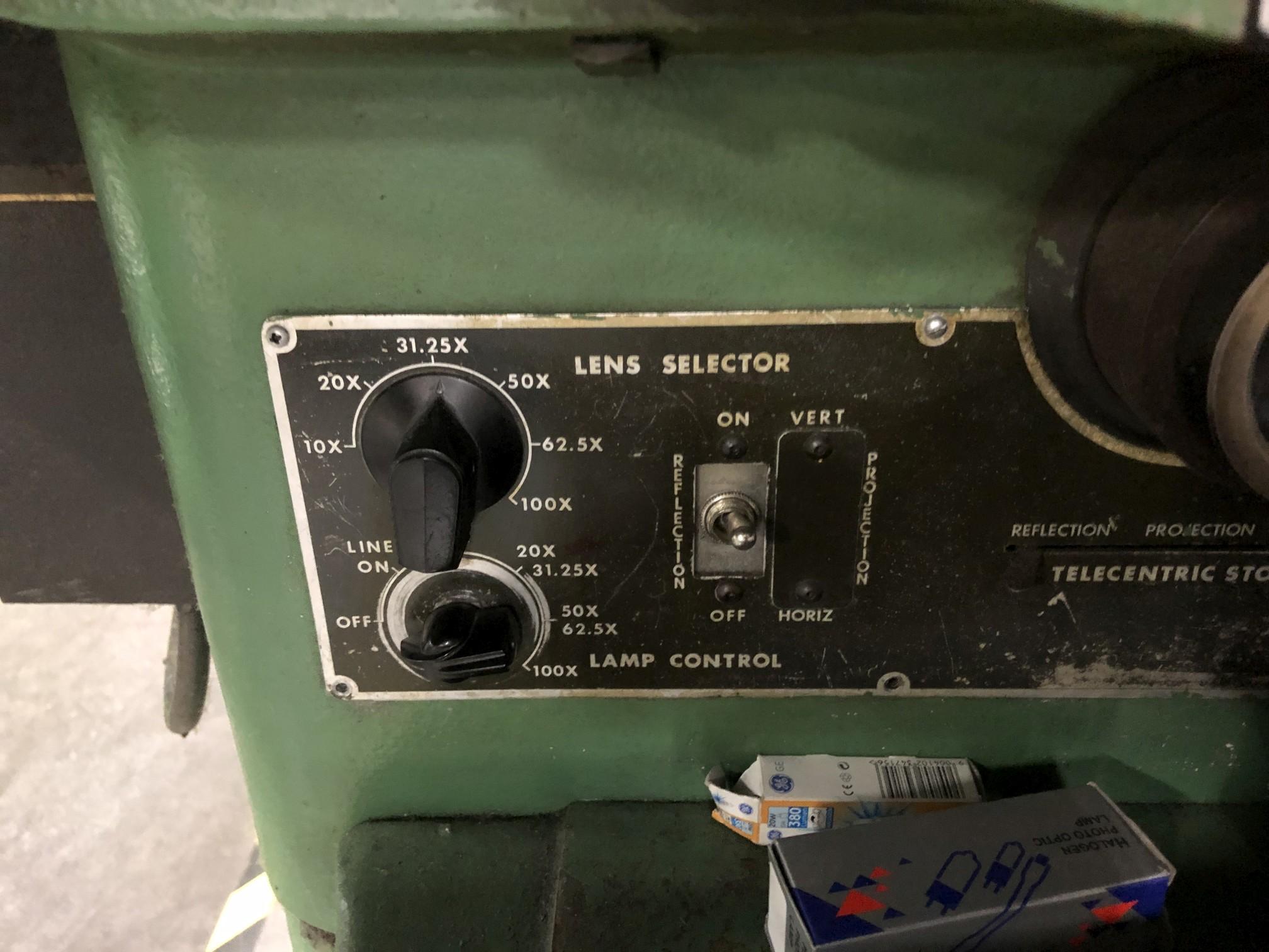 "Jones & Lamson 14"" Optical Comparator - Image 5 of 8"