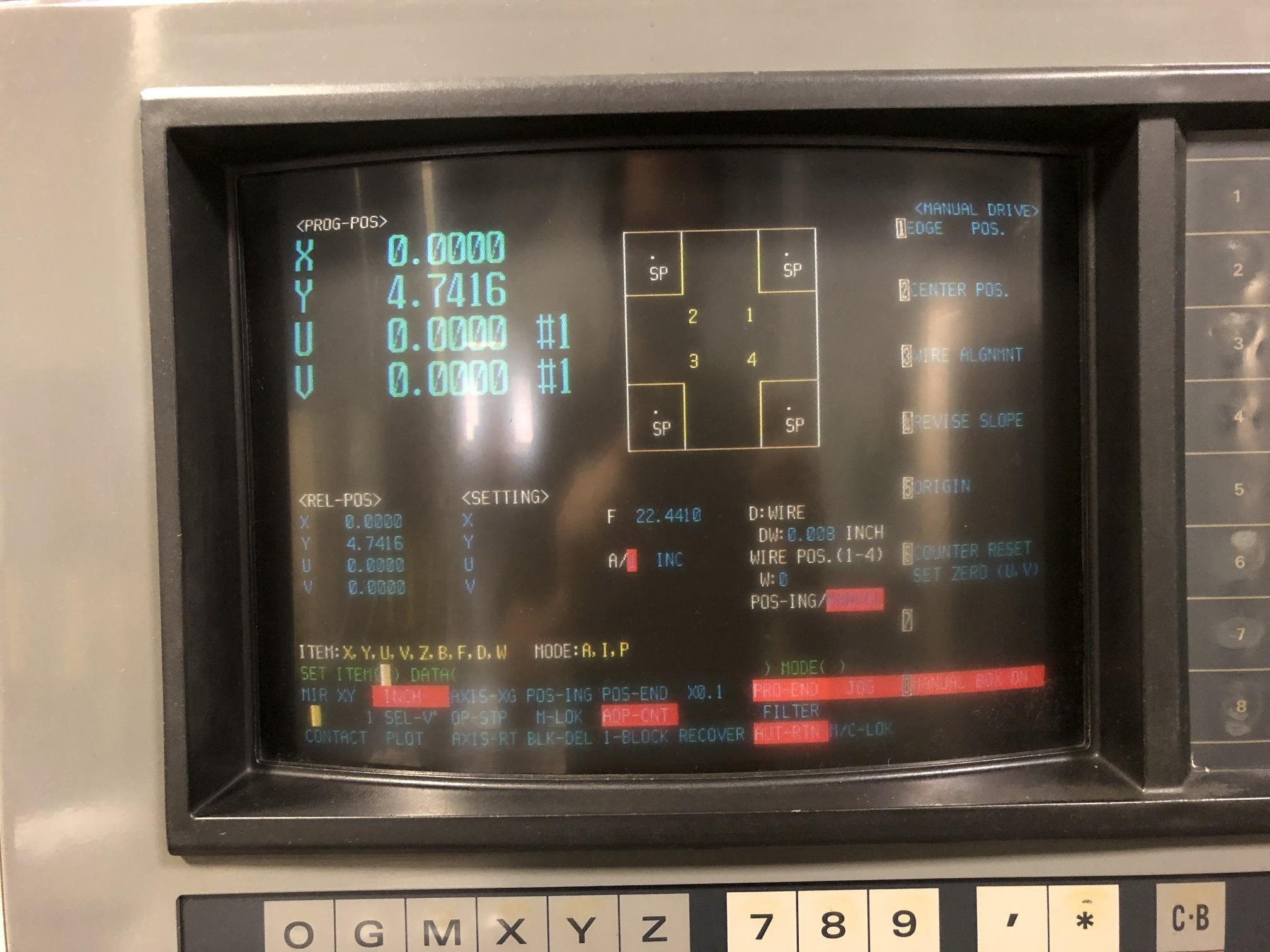 1988 Mitsubishi DWC90H CNC Wire EDM - Image 6 of 13