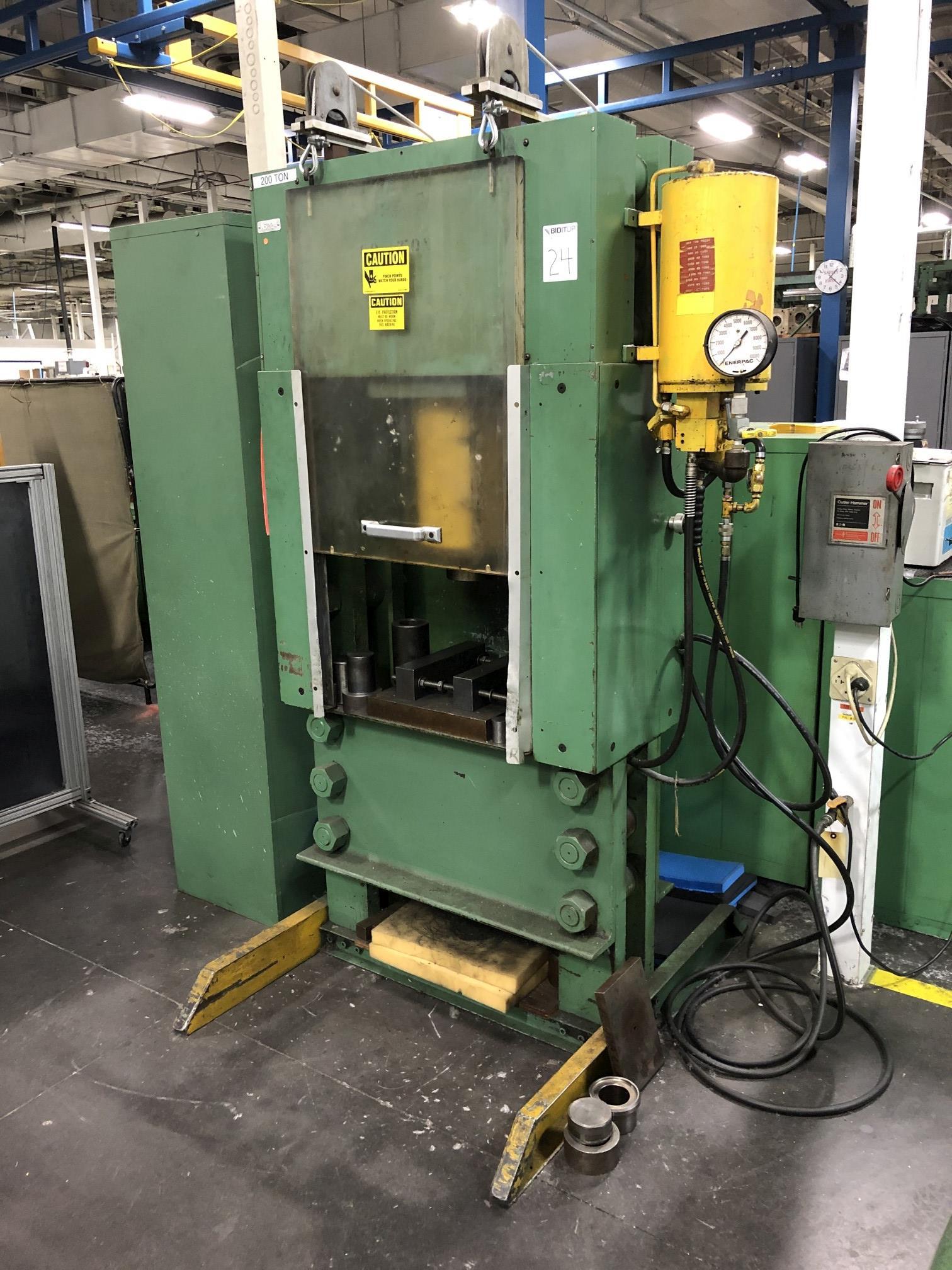Dake 200 Ton Hydraulic Press - Image 2 of 6