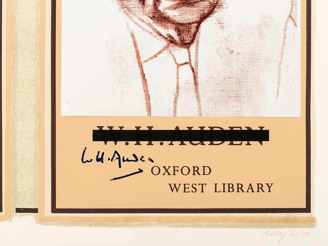 R.B. Kitaj (1887-1948), W.H. Auden, Color Serigraph, 1969 - Image 4 of 10