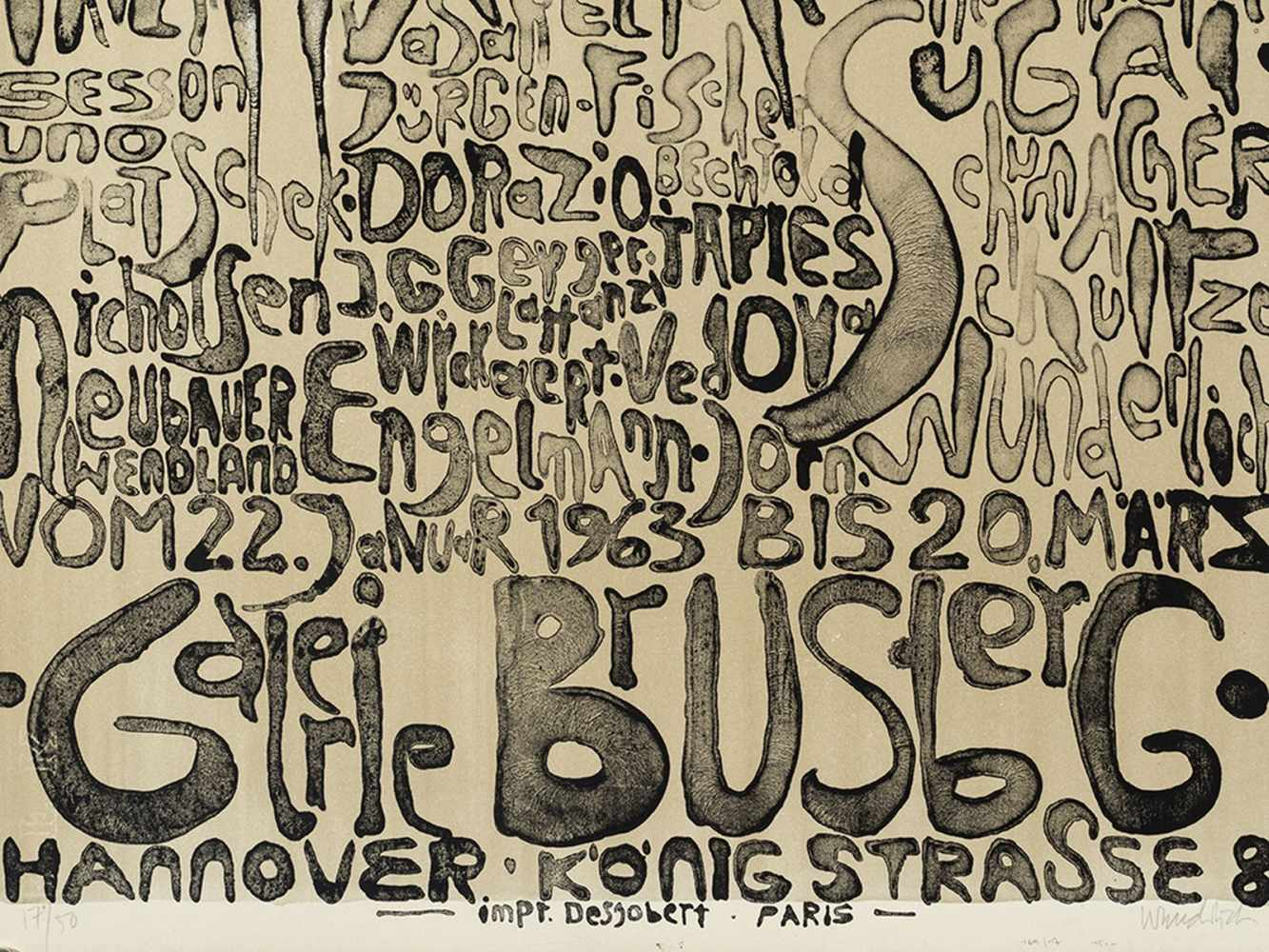 Paul Wunderlich, Kunst + Knoll International, Poster, 1963 - Image 6 of 9