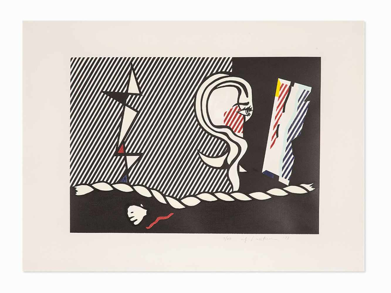 Roy Lichtenstein(1923-1997), 'Figures with Rope', Lithograph, 1978<br - Image 3 of 7