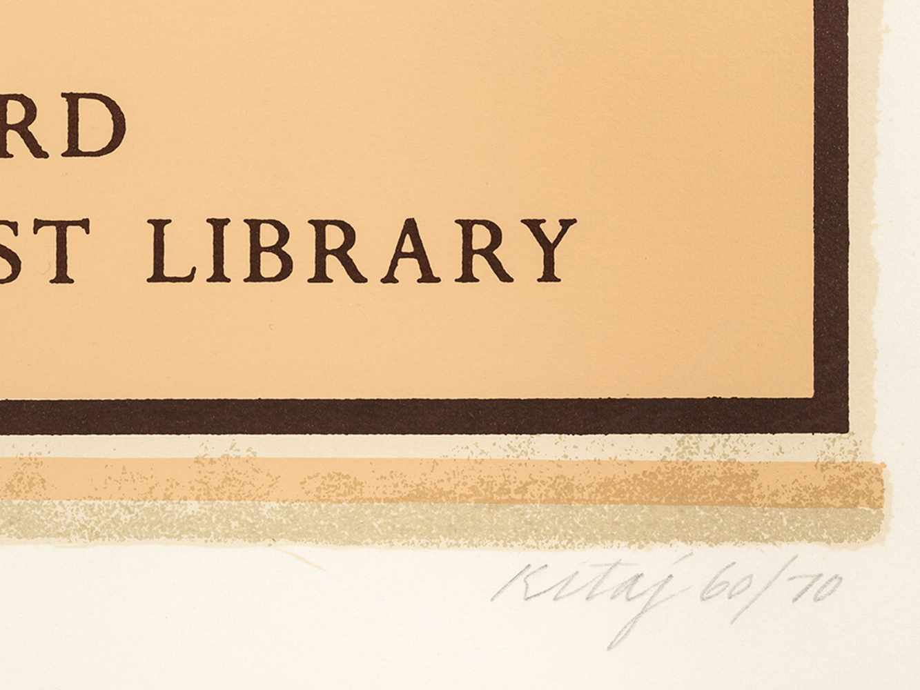 R.B. Kitaj (1887-1948), W.H. Auden, Color Serigraph, 1969 - Image 5 of 10