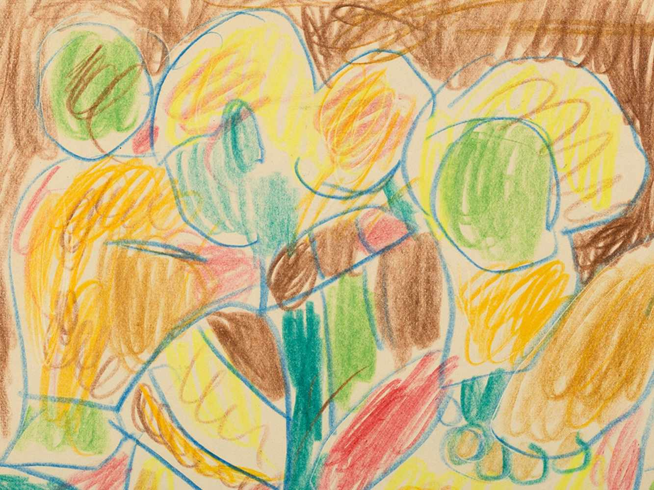 Miklos Németh, Drawing, Colorful Figures, Hungary, 2008< - Image 4 of 7