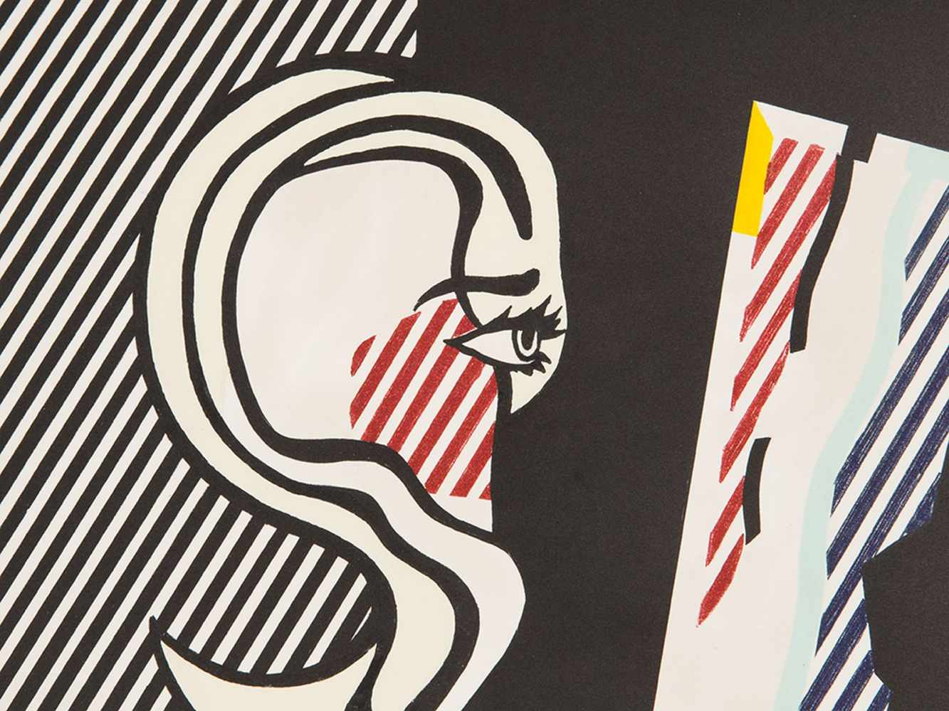 Roy Lichtenstein(1923-1997), 'Figures with Rope', Lithograph, 1978<br - Image 2 of 7