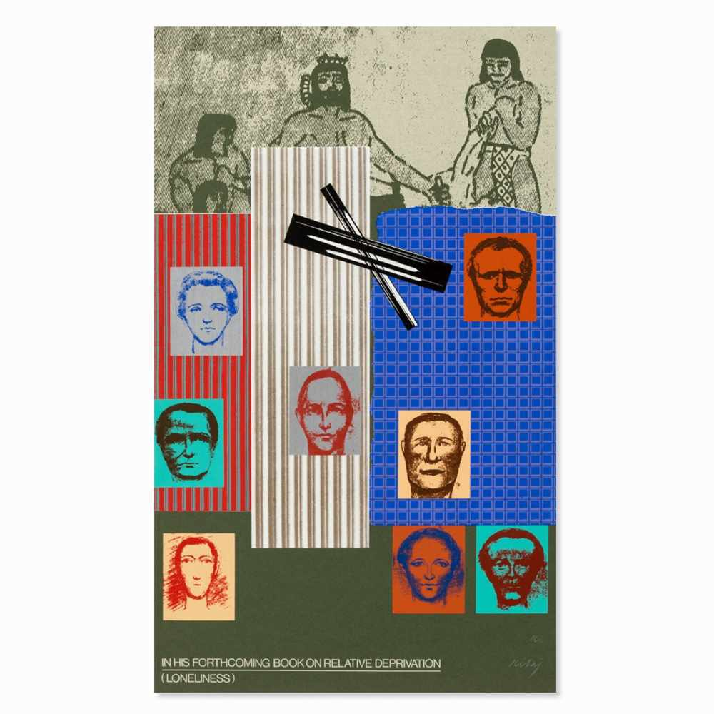 R.B. Kitaj, In His Forthcoming Book, Serigraph in Colors, 1967 - Image 10 of 10