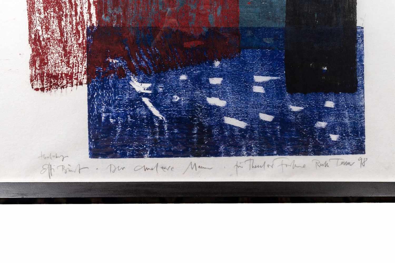 Ruth Tesmar (born 1951), Effi Briest, color woodcut, 1998 - Image 2 of 2