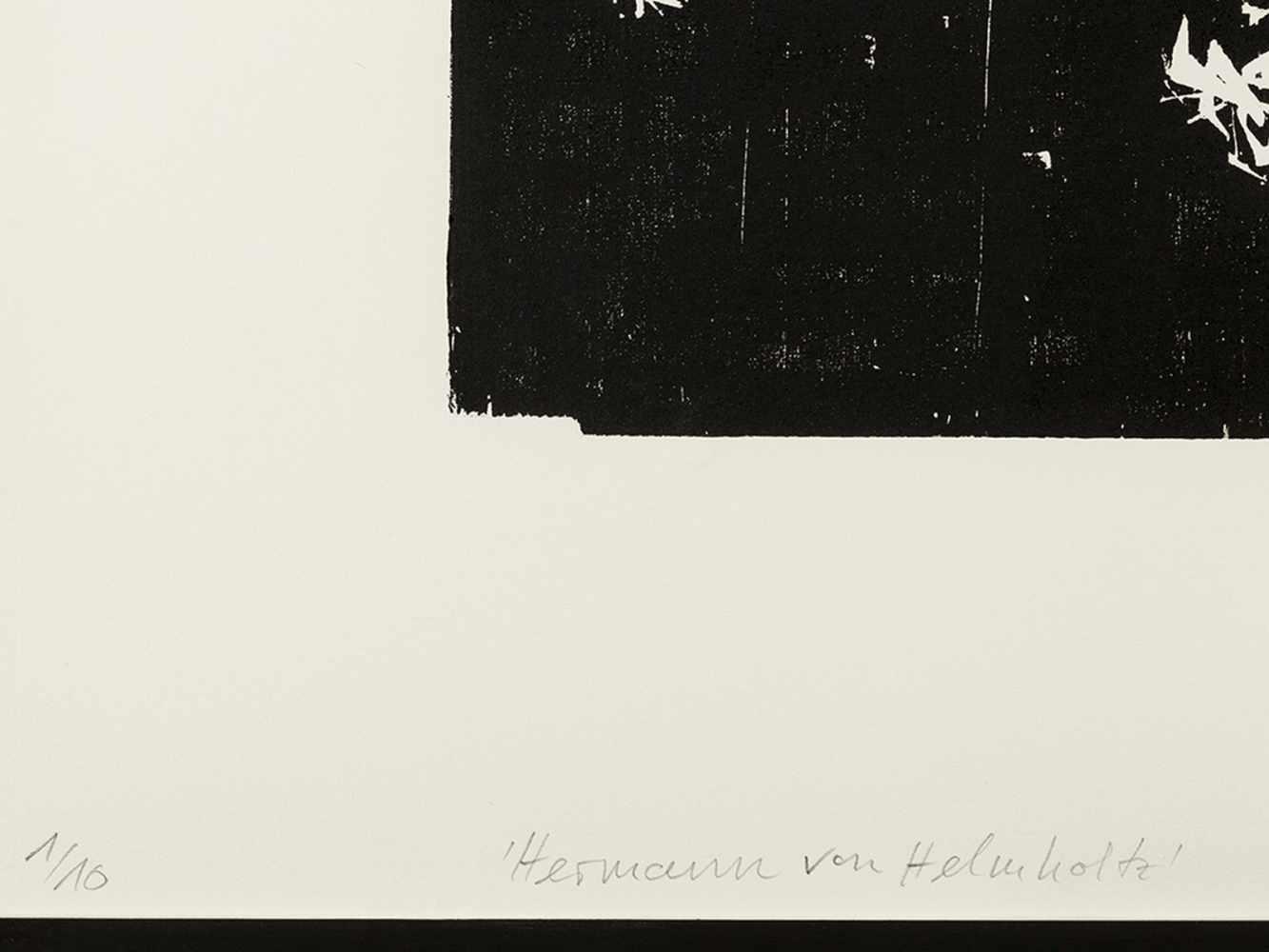 Matthias Mansen, Hermann von Helmholtz, Woodcut, 1999 - Image 4 of 9