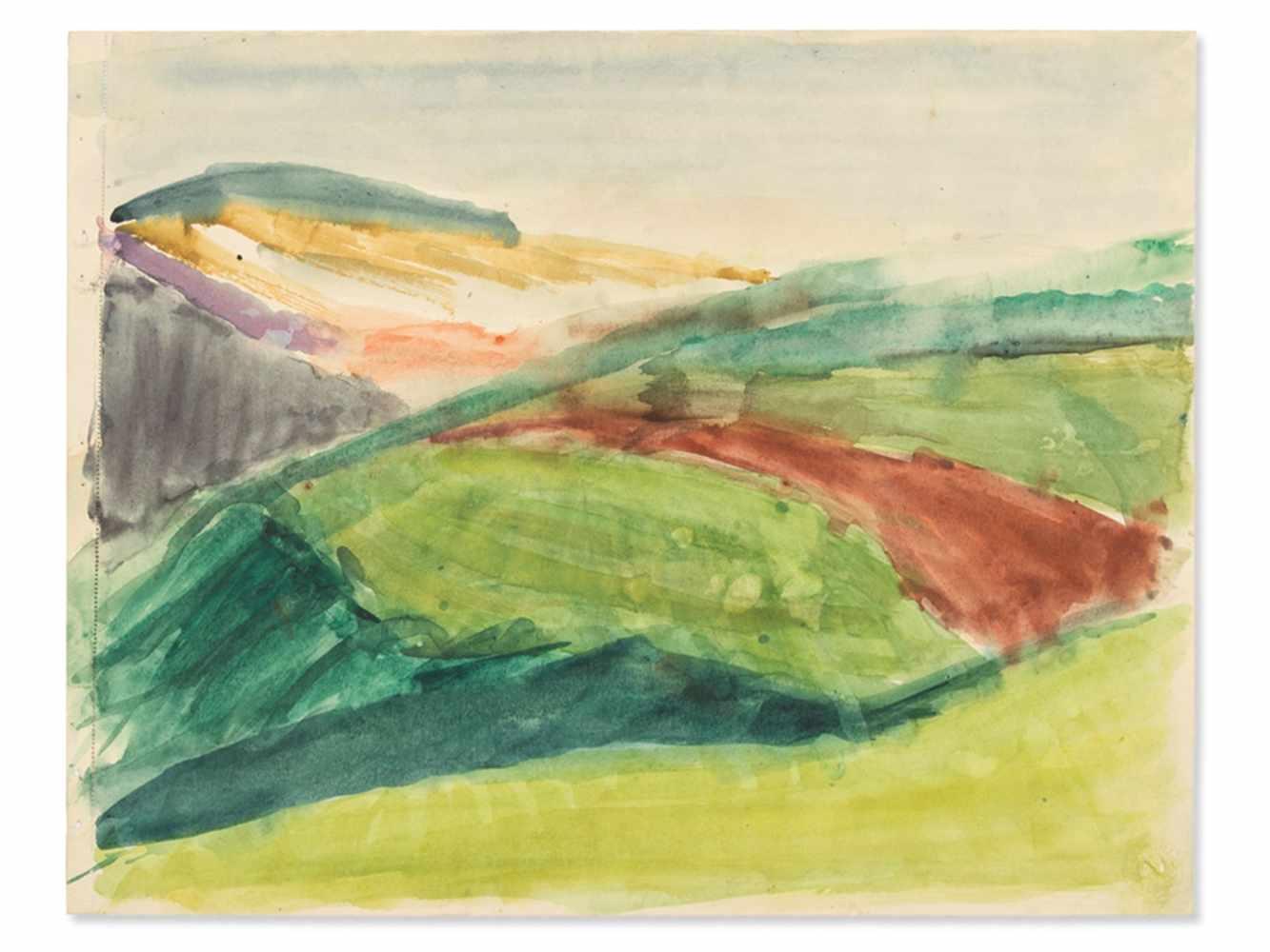 "Rudolf Petrik, ""Landscape"" Austria, c. 1950"