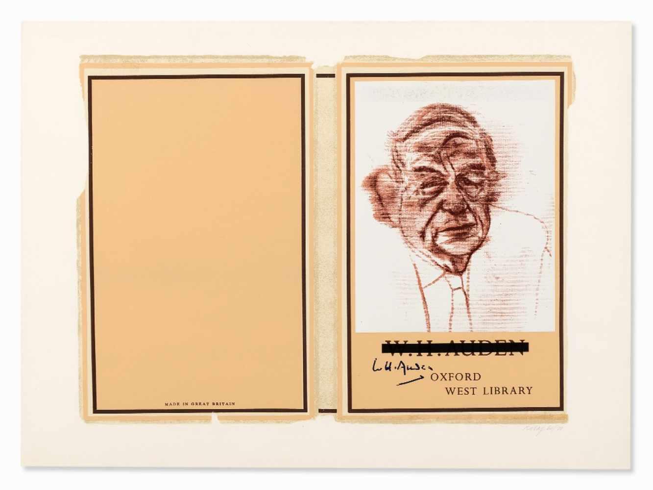 R.B. Kitaj (1887-1948), W.H. Auden, Color Serigraph, 1969 - Image 2 of 10