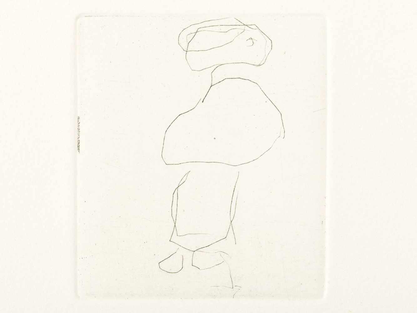 Gerhard Altenbourg, Pelerine und Feudel, Drypoint Etching, 1988 - Image 2 of 6