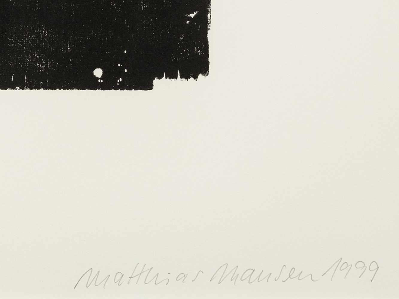 Matthias Mansen (b. 1958), Max von Laue, Woodcut, 1999 - Image 2 of 7