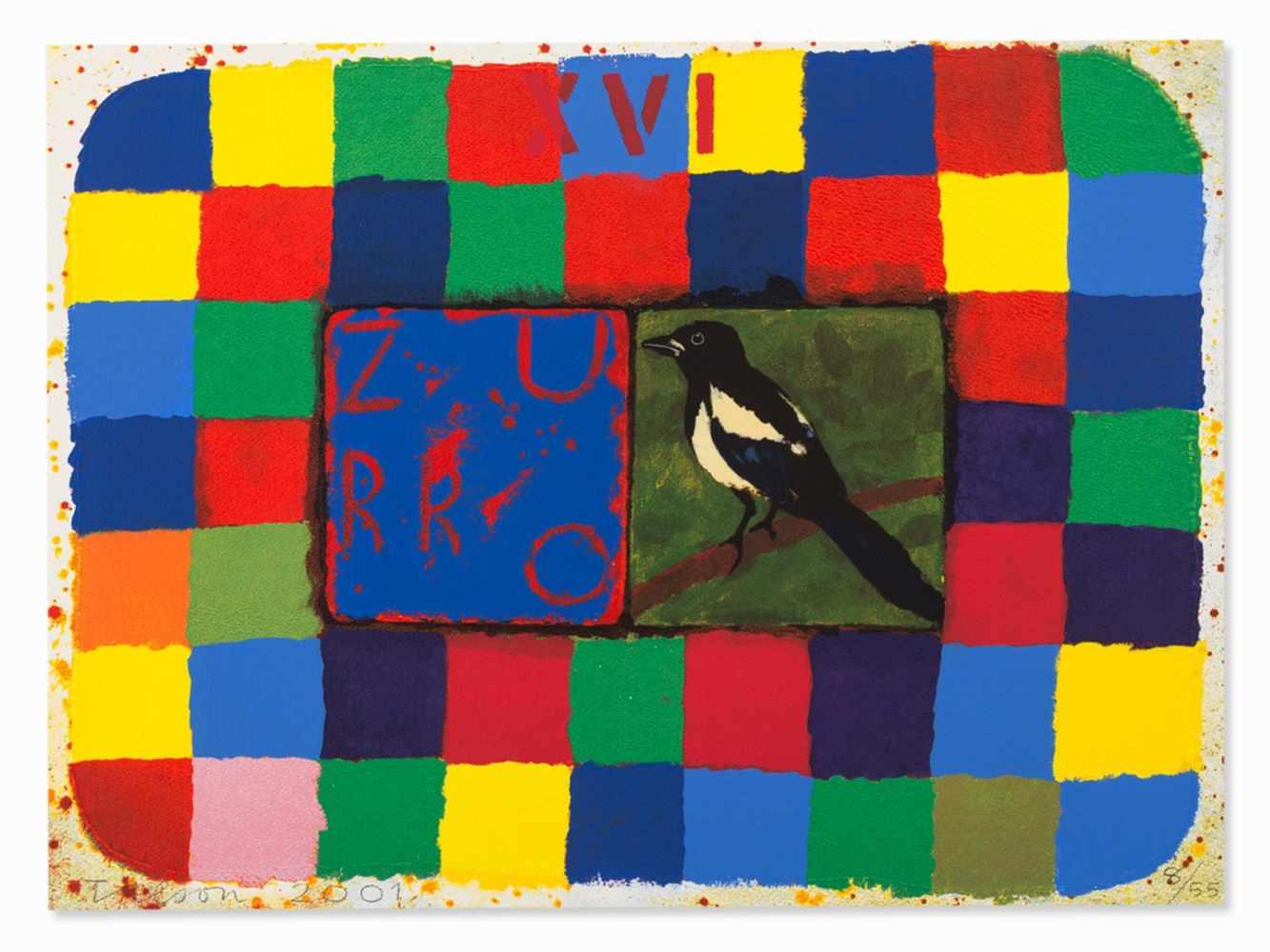Joe Tilson, Conjunctions, 3 Serigraphs in Colors, 2001 - Image 2 of 7
