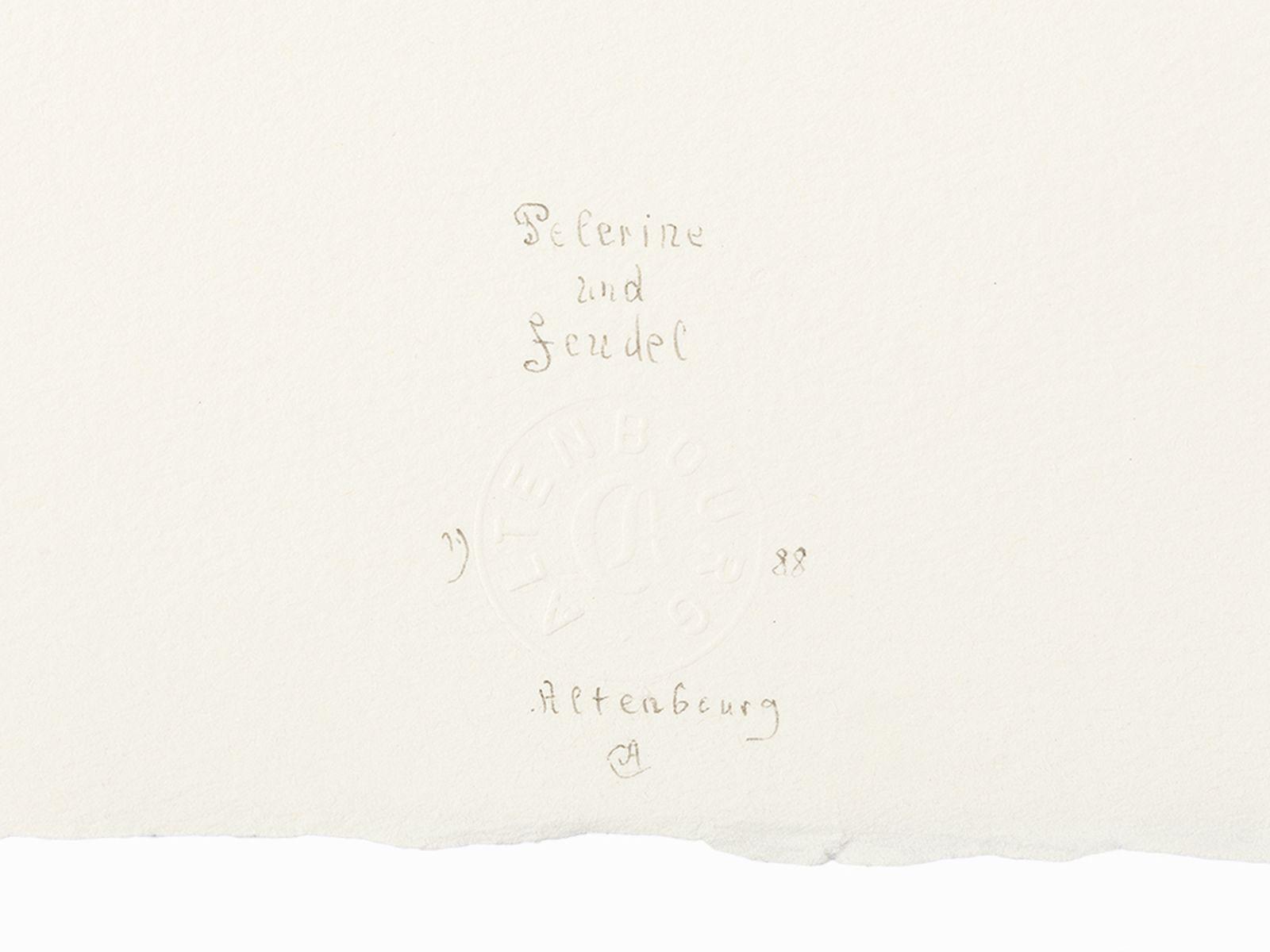 Gerhard Altenbourg, Pelerine und Feudel, Drypoint Etching, 1988 - Image 3 of 6