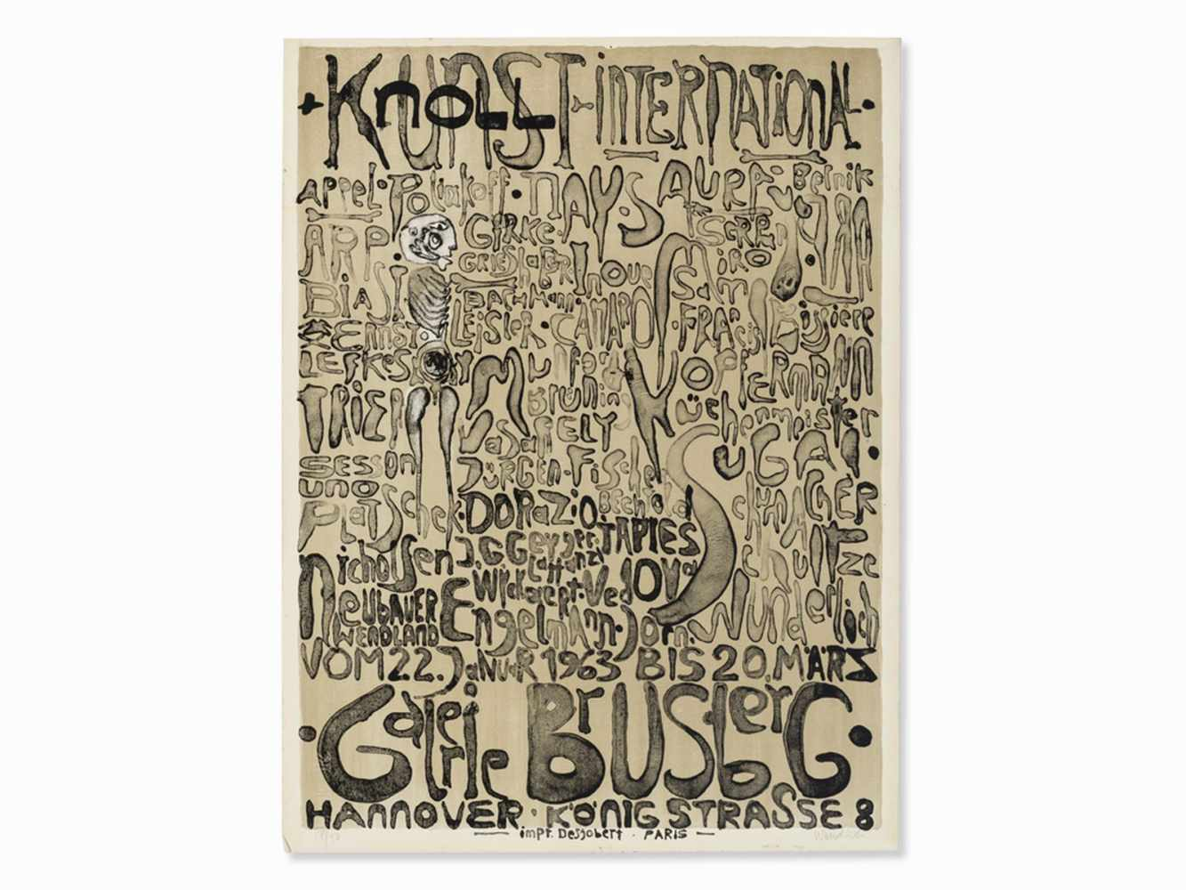 Paul Wunderlich, Kunst + Knoll International, Poster, 1963