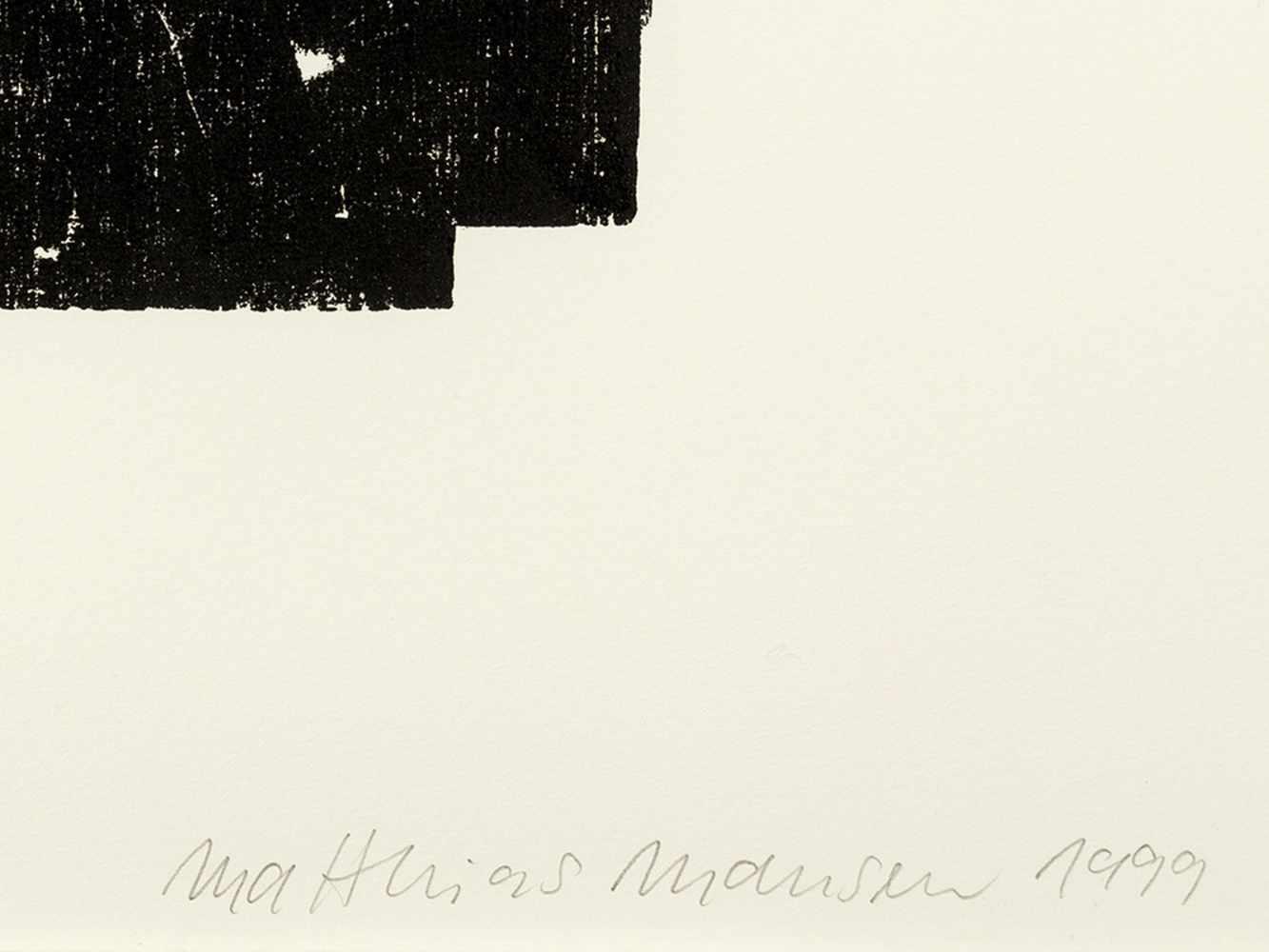 Matthias Mansen (b. 1958), G.W. Leibniz, Woodcut, 1999 - Image 4 of 9