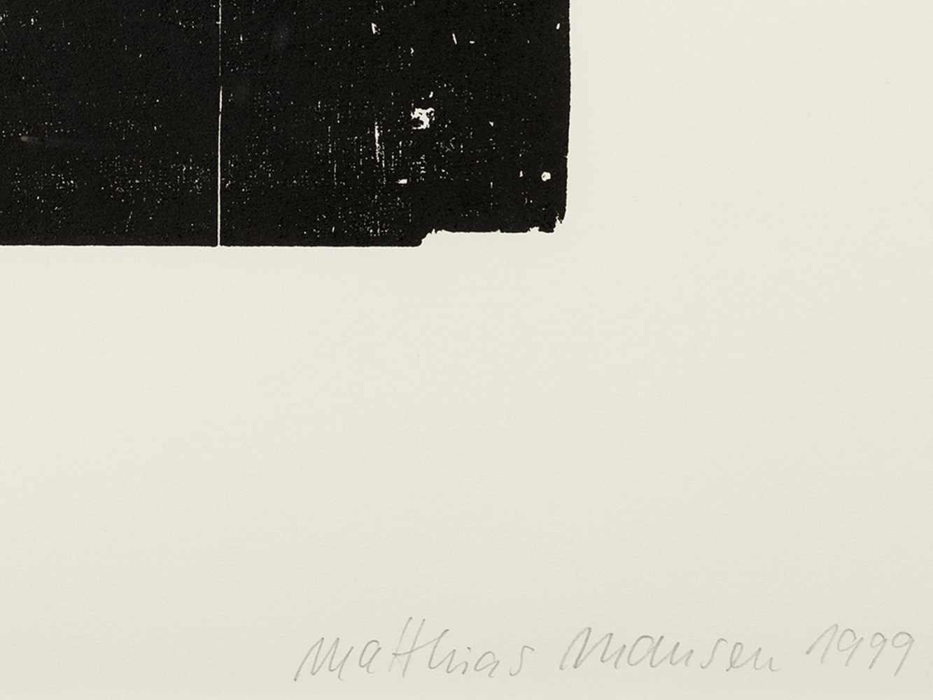 Matthias Mansen, Hermann von Helmholtz, Woodcut, 1999 - Image 3 of 9