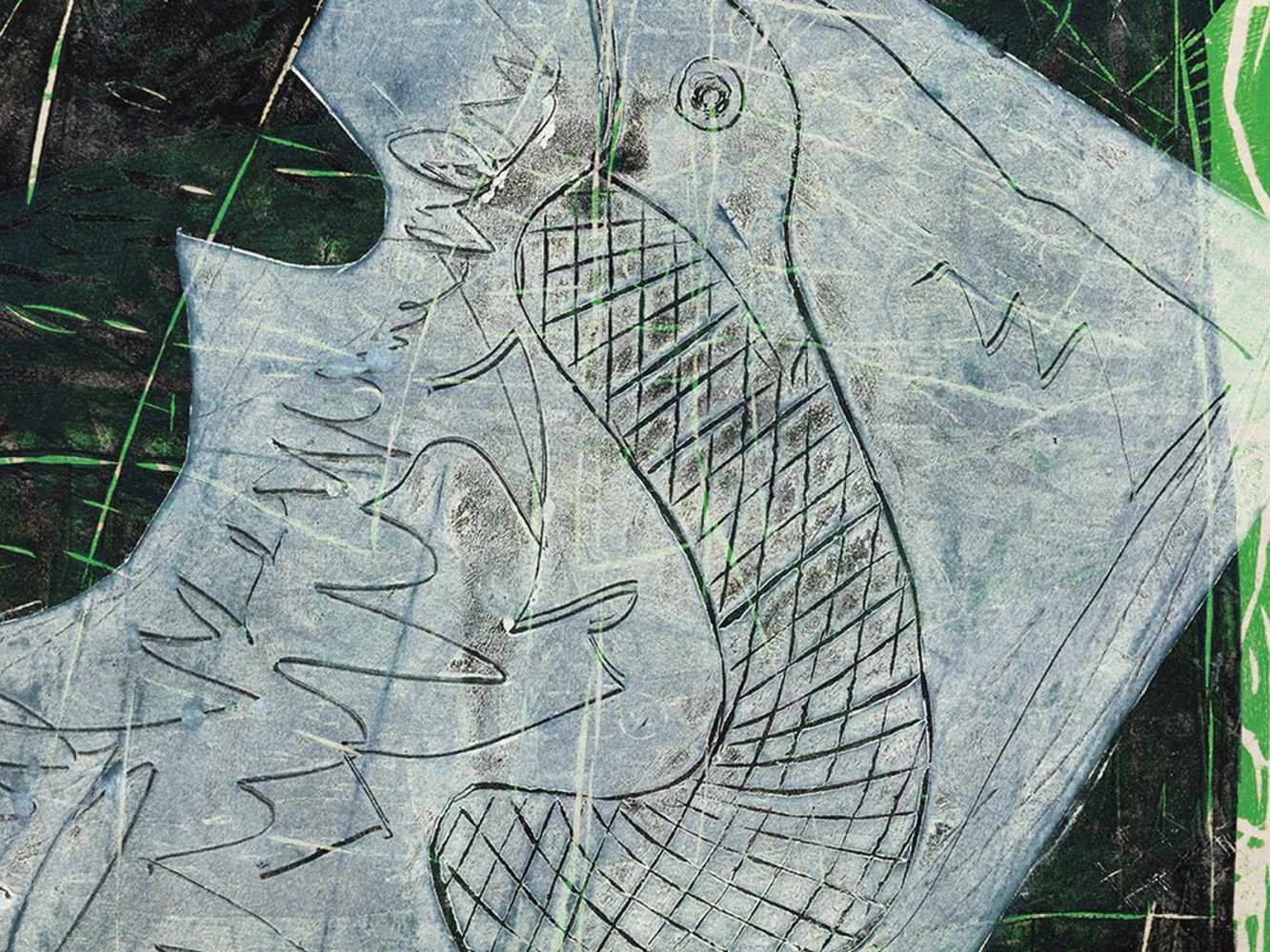 Ruth Tesmar, Symposion, 12 Woodcuts , 1999/2000 - Image 6 of 13