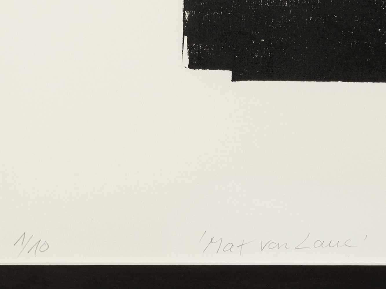 Matthias Mansen (b. 1958), Max von Laue, Woodcut, 1999 - Image 3 of 7