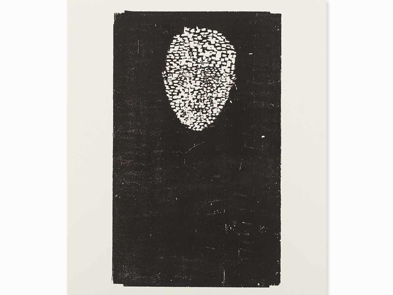 Matthias Mansen, Symposion (Köpfe), 12 Woodcuts, 1999< - Image 8 of 9