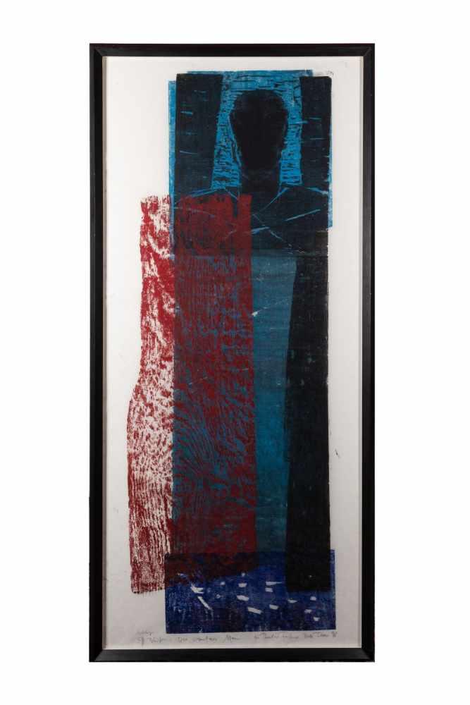 Ruth Tesmar (born 1951), Effi Briest, color woodcut, 1998