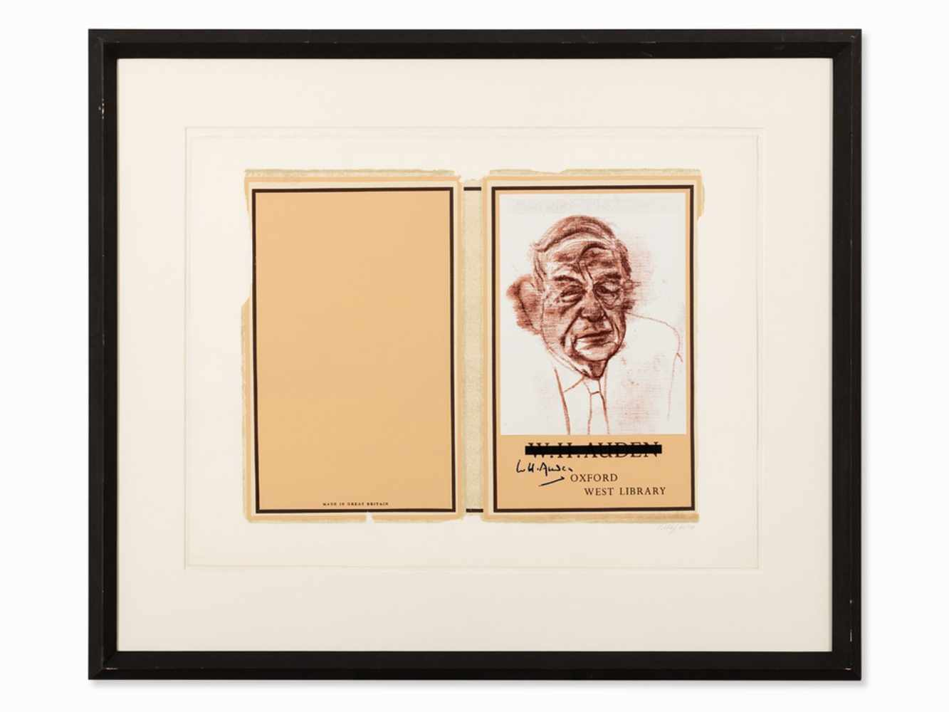 R.B. Kitaj (1887-1948), W.H. Auden, Color Serigraph, 1969