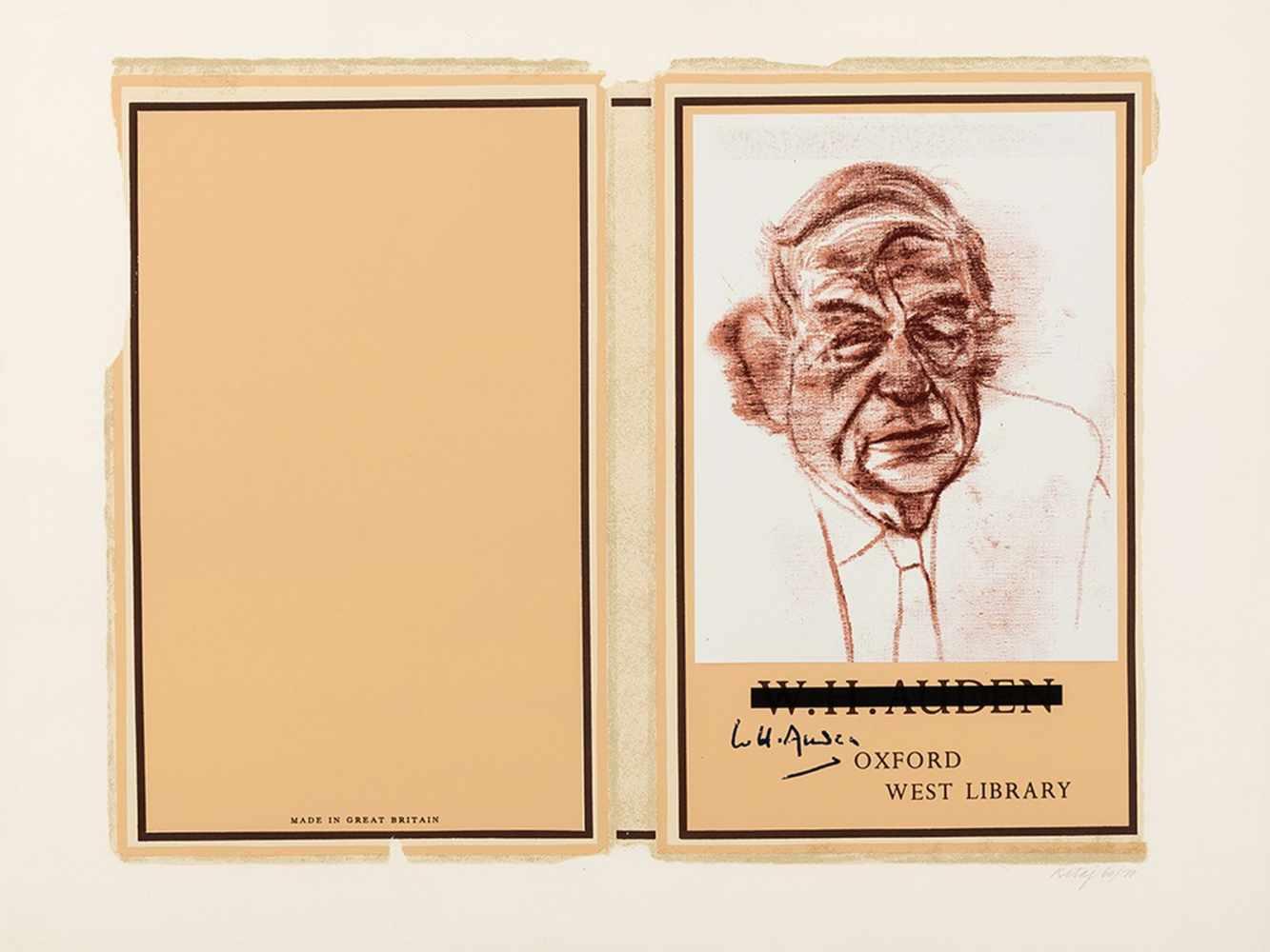 R.B. Kitaj (1887-1948), W.H. Auden, Color Serigraph, 1969 - Image 3 of 10
