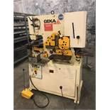 Geka Hydracrop 50/S 50 Ton Hydraulic Ironworker, Model Hyd-50