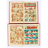 Beano (1950) 390-441. Complete in two bound volumes. (Second volume Nos 411-441 in larger format).