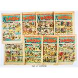 Dandy (1945) 283-308 Xmas. Complete year. First appearance of Danny Longlegs and Lazy Larry by