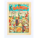 Dandy 53 Xmas (1938). First Christmas issue with pg 13 ad for the first Dandy Monster Comic.
