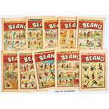 Beano (1957) 783-797, 799-802, 804 and (1959) 890, 894. A few [vg+/fn], balance [gd/vg] (22). No