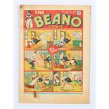 Beano Comic No 7 (1938). Bright cover colours with lower margin and top corner rust marks
