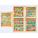 Radio Fun (1938-39) 1, 12, 18-20. Starring George the Jolly Gee-Gee, Clark Gable, and Flanagan &