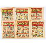 Knock-Out (1939-40) 2, 4, 5, 7, 8, 51. Bright colours, rusty staple stains. 2, 4 [vg-], 5, 7, 8,