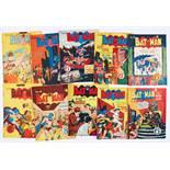 Batman Australian reprints (1950s) 21-30. Nos 21, 22, 24, 30 [gd], balance 6 issues [vg-/vg+] (10)