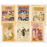 D.C. Thomson story paper No 1s. Adventure 1 (1921), Bluebird 1 (1922), Mascot 1 (1921), Rover 1 (