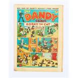 Dandy No 11 (1938). Bright cover colours with some light grubbiness and lower corner creases [vg-]