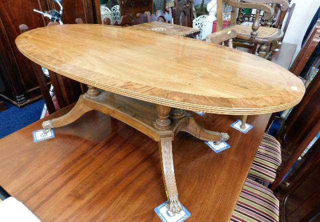 Lot 25 - A Peter Blomfield walnut coffee table