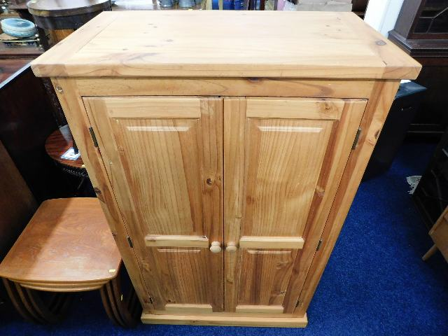Lot 7 - A modern solid pine cupboard