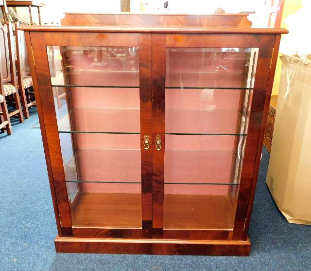Lot 44 - A Peter Blomfield mahogany display cabinet with th