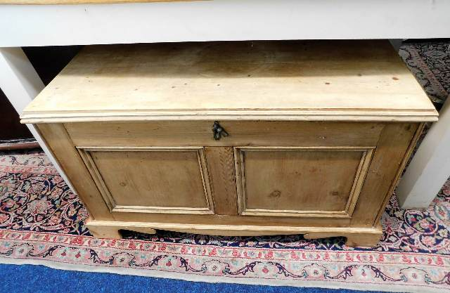 Lot 55 - A Victorian pine chest