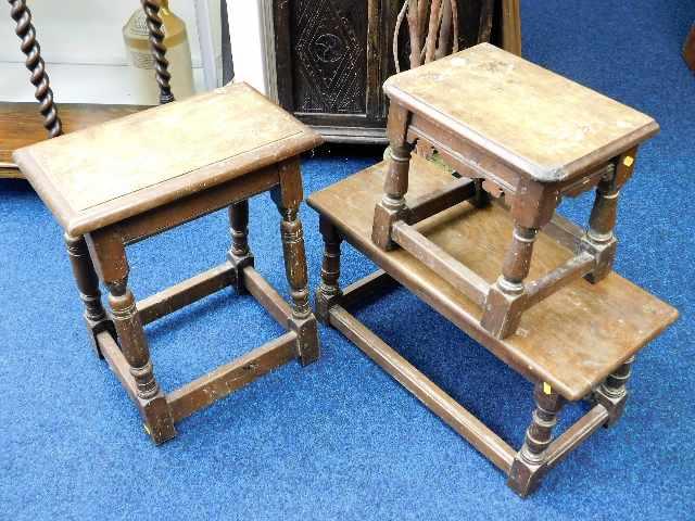 Lot 86 - Three oak stools