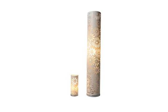 Laser cut cylinder floor lamp and matching table lamp mozeypictures Gallery
