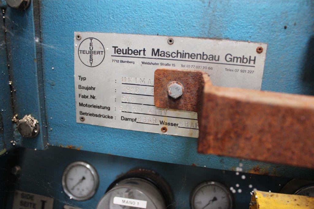 Teubert Mashinenbau GmbH, Coving forming machine, Model Unimax, manufactured 1988 - Image 2 of 2