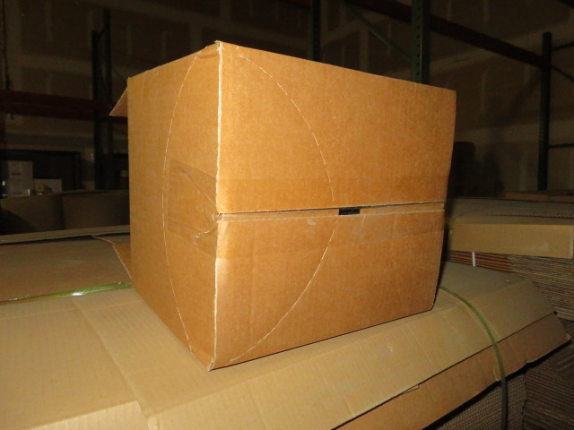 (1600) 12-3/4 X 9-1/2 X 10-3/4 K/D CORRUGATED BOXES W/ ONE SIDE DIE CUT - Image 2 of 2