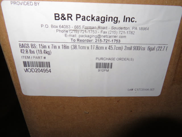 (11) BOXES 15 X 7 X 18 7 15 X 9 X 24 IN POLY UIRETHANE BAGS - Image 2 of 3