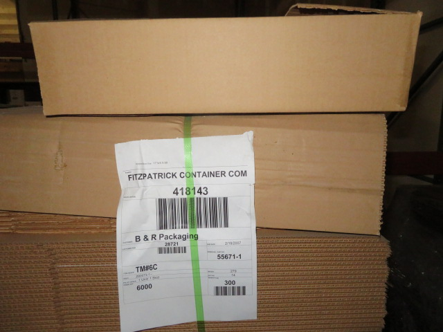 (1200) 21 X 13 X 5 IN K/D CORRUGATED BOXES W/ ONE SIDE DIE CUT - Image 2 of 2